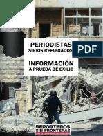 Periodistas refugiados informe.