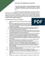 Guidelines for Summer Term Registration