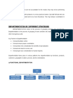 Departmentation