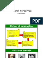 sejarah konservasi