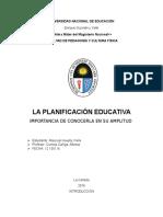 INFORME PLANIFICACION ESTRATEGICA