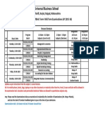 Revised UBS PGDM2 CMime BA6 PGCM5 Mid Term 1 Exam Schedule Sept 2015