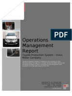 Operations at Indus Motor Company