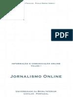 Informação e Comunicação Online. Volume I. Jornalismo Online.