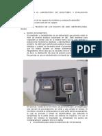 Informe de Visita Al Laboratorio de Monitoreo y Evaluacion Ambiental
