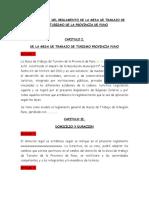 Propuesta Reglamento Mesa Turismo