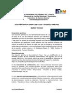 Practica 7 DESCOMPOSICIÓN TÉRMICA DE SALES Y SU ESTEQUIOMETRÌA