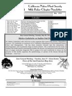 Milo Baker Chapter Newsletter, May 2003 ~ California Native Plant Society