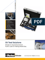 Oil Test Solutions Data Sheet