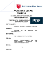 Fallas Estructurales Del Terremoto de Ecuador