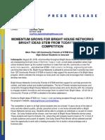 Press Release--Bright Ideas Friends of STEM