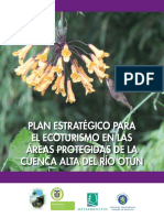 Plan Estrategico Ecoturismo Areas Protegidas Cuenca Alta Rio