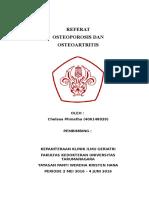 Cover Referat Osteoporosis Dan Oa
