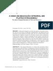 A IDEIA DE EDUCAÇÃO INTEGRAL EM PLATÃO E ROUSSEAU