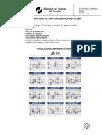 Calendario Envio Pagos Iess