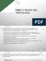 Funciones y Roles Del Psicólogo