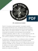 APH - Atendimento Pre Hospitalar