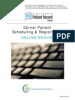 Patient Sched Reg Manual Cerner
