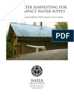 Roof Water Harvesting For A Low Impact Water Supply; By Brock Dolman and Kate Lundquist