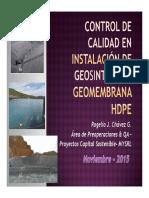 Control Calidad Inst de Geosinteticos - Geomembrana