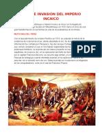 Caida e Invasion Del Imperio Incaico