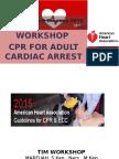 Workshop CPR Adult Cardiac Arrest