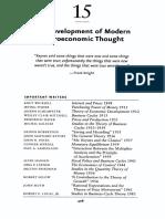 15 The Development of Modern Macroeconomics Thought