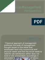 Classical Management