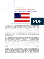 The Flag (Title 4 U.S.C. 1)