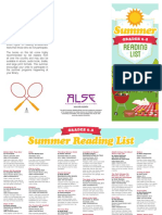 2015 Summer Reading List 6th to 8th Grade