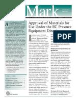 Approval of Materials_97 23 EC