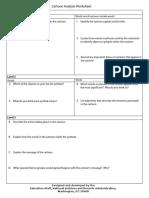 cartoon analysis worksheet