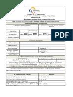Formulario de rebaja Pensión COGEP