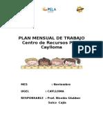 Plan de Trabajo Setiembre 2015