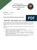 Redacción Norma ASTM E94