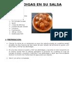 06. Albondigas en Su Salsa (1.50)