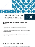 professionalism research project