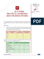 Project Work Practical Awareness About Business Studies
