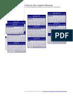 Calendario Escolar 2015 2016 Mensual
