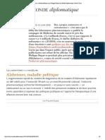 Alzheimer, maladie politique, par Philippe Baqué (Le Monde diplomatique, février 2016)