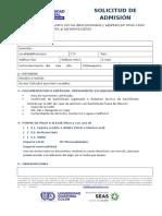 Formulario Pre-Inscripcion Ucconline