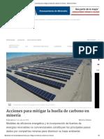 Acciones Para Mitigar La Huella de Carbono en Minería - Minería Chilena