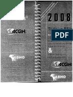 ACGIH Livro Produtos Químicos