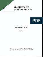 Stability of Marine Soil