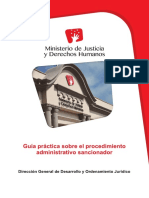 Guía Práctica Del Proceso Administrativo Sancionador, Minjus, 2015, p 64