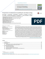Perspectives in Mathmatical Modelling for Microbial Ecology