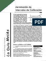 Determiancion Intervalos de Calibracion