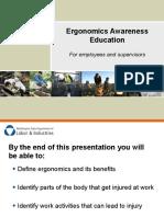 Ergonomics Awareness Slideshow 2