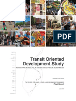 Transit Oriented Development Study for Proposed North-South Light Rail - St. Louis, MO