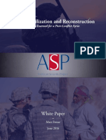 Syrian Stabilization and Reconstruction